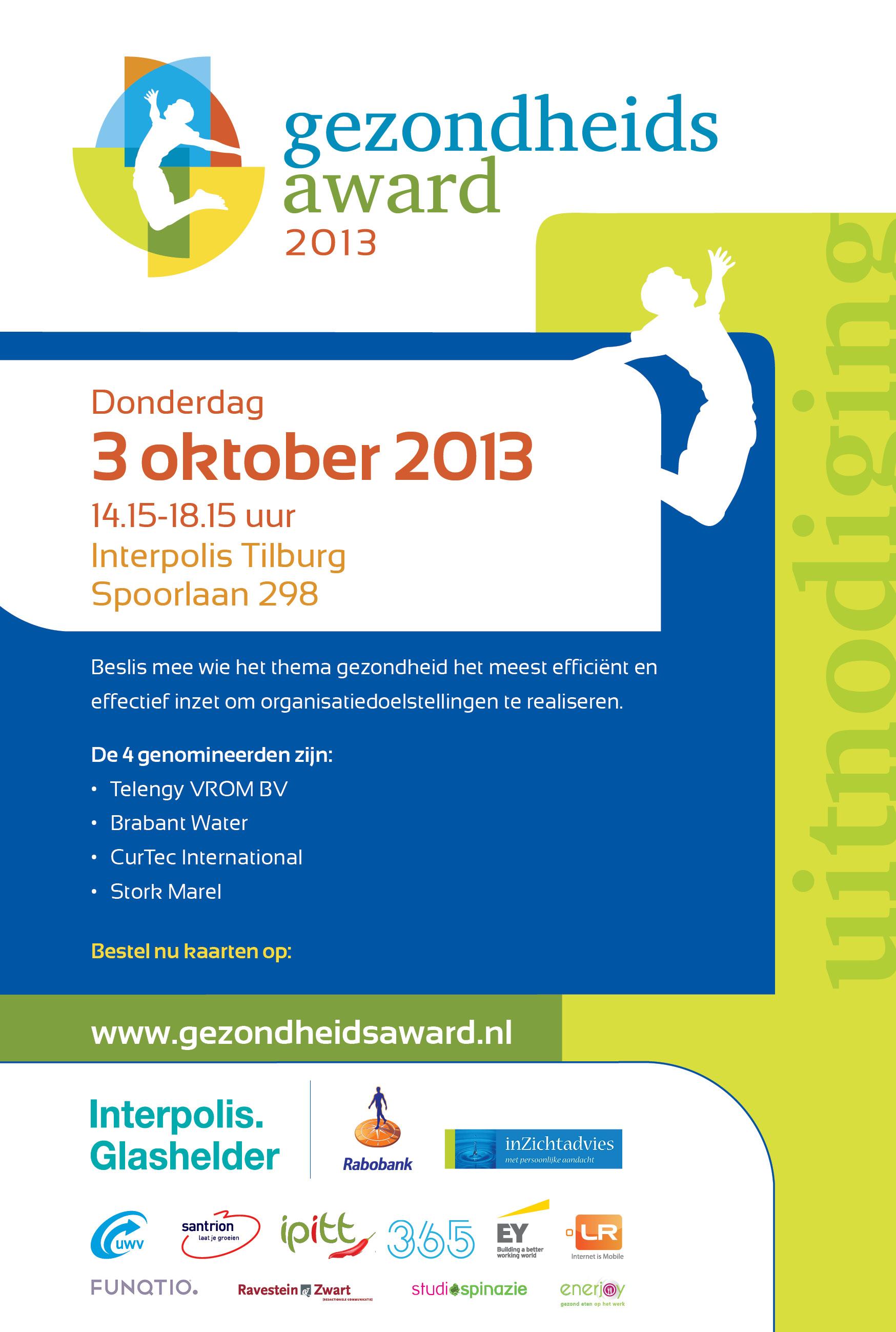 Gezondheidsaward aankondiging 2013
