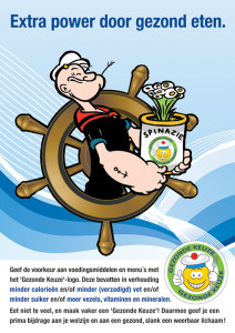 Gezond eten communicatie poster Offshore - Enerjoy