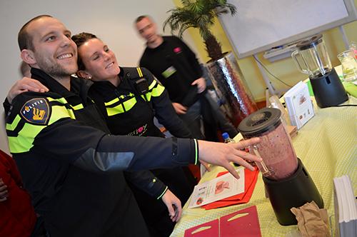 Gezonde smoothies inspireert politie tot duurzame inzetbaarheid