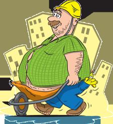 Bouwvakker met overgewicht