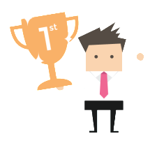 Competitie element tijdens e-learning