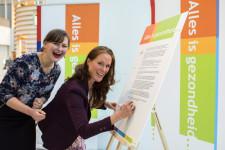 Ondertekening pledge alles is gezondheid - Enerjoy