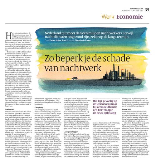 Volkskrant interviewt Marjolein van Kleef