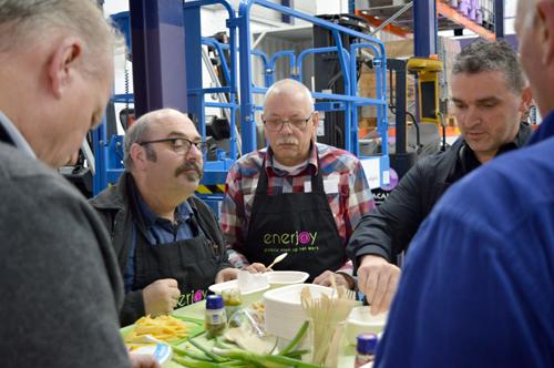 Gezonde tussendoortjes maken tijdens Gezond eten en veilig werken - Enerjoy